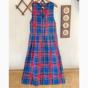 Vintage Plaid Jumper Dress